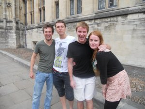 Dani and Matthias visiting Oxford